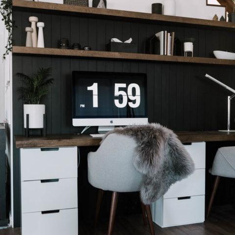 DIY Wood Desktop
