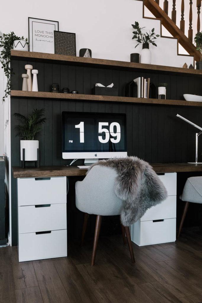 DIY Desktop to go over IKEA cabinets