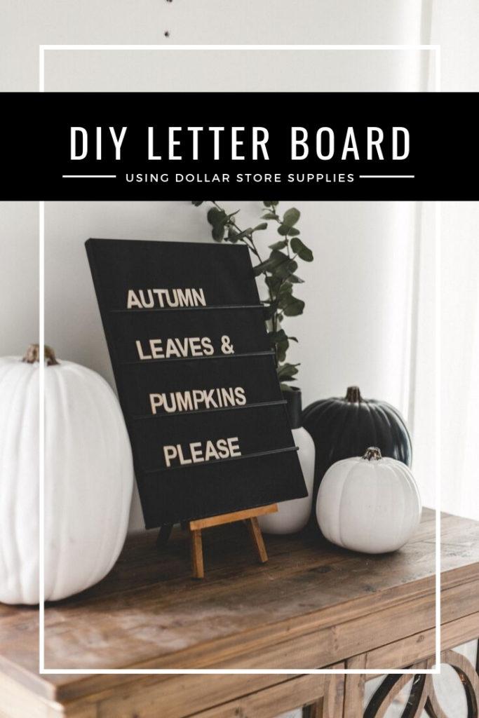 Modern DIY Letter Board