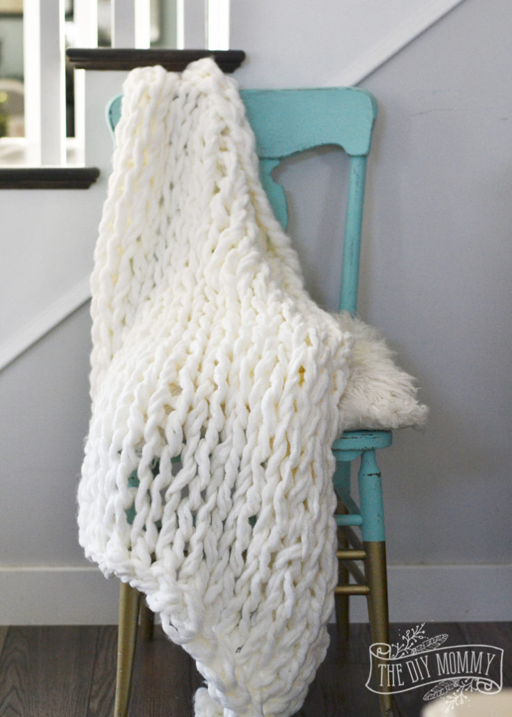 How to Make an Arm Knit Blanket