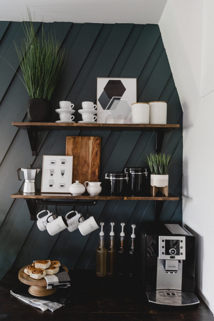 stunning coffee station for the home