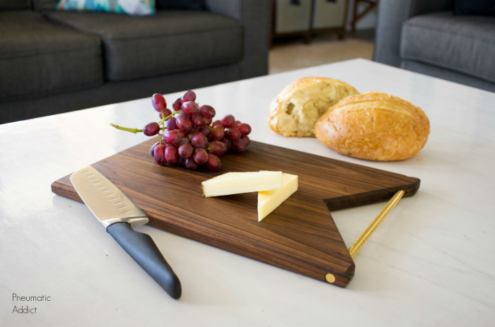 How to Make a Modern Brass Handled Cutting Board