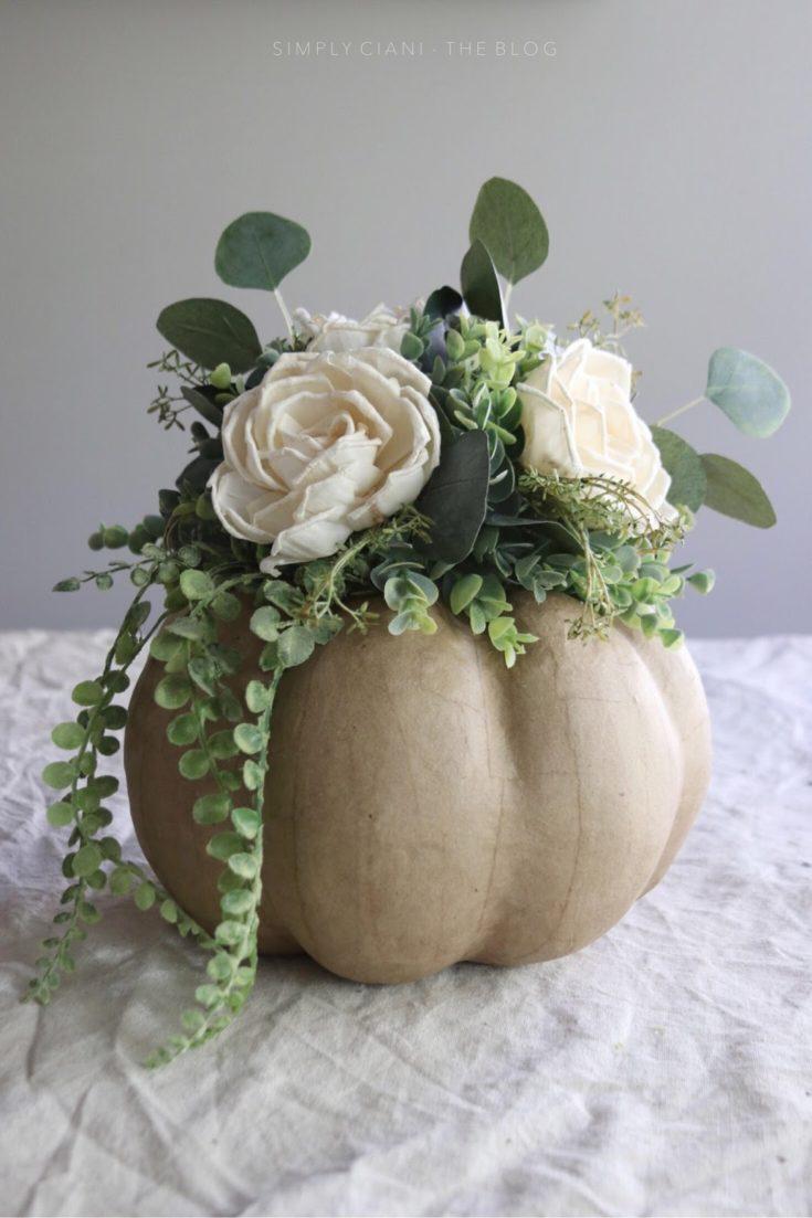 Floral Pumpkin Centerpiece Tutorial