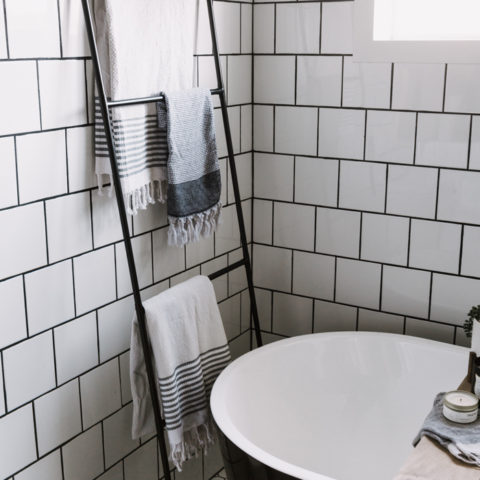 DIY Towel Rack for the bathroom