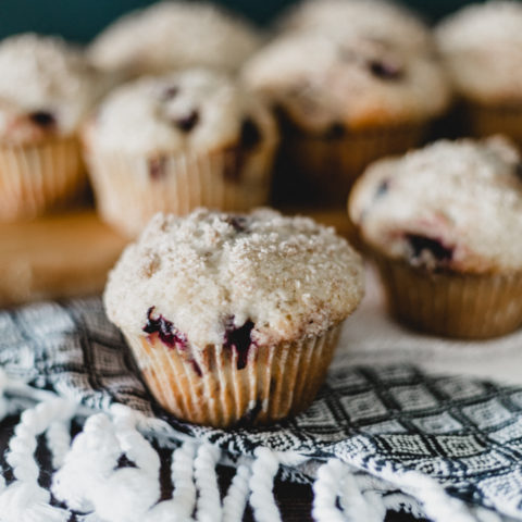 crumb topping on muffins