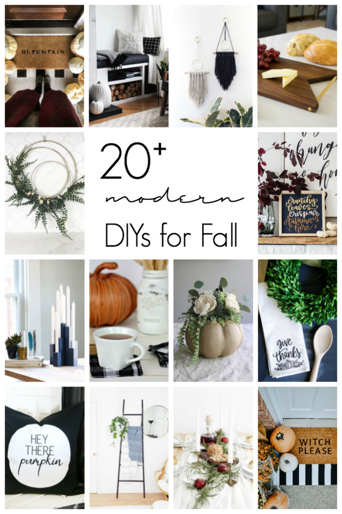 Collage of 20+ modern Fall DIY decor ideas