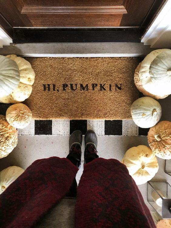DIY Hi, Pumpkin Doormat