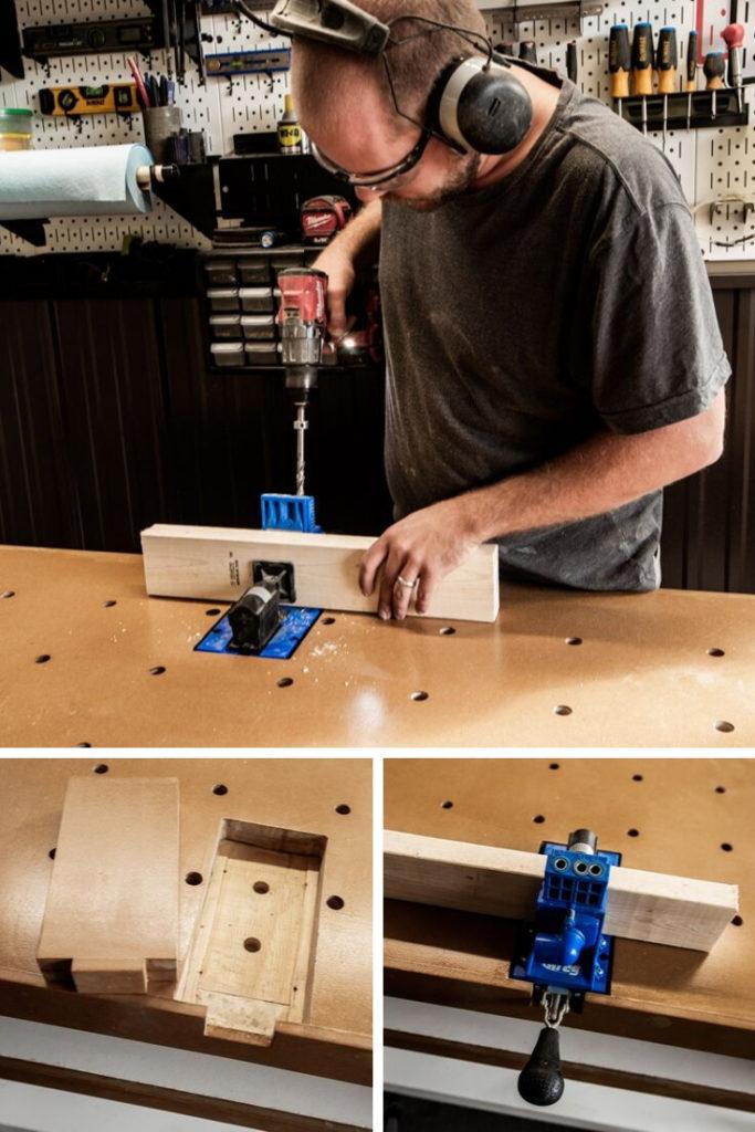 using removable kreg jig