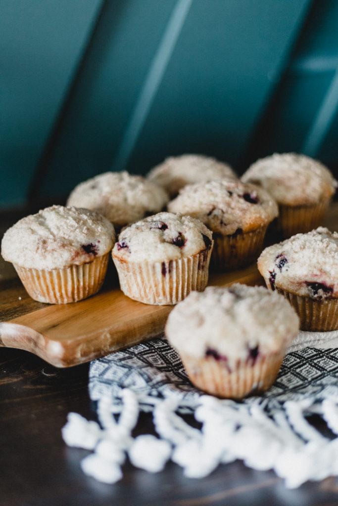 delicious saskatoon berry muffins