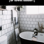 Modern DIY Blanket Ladder