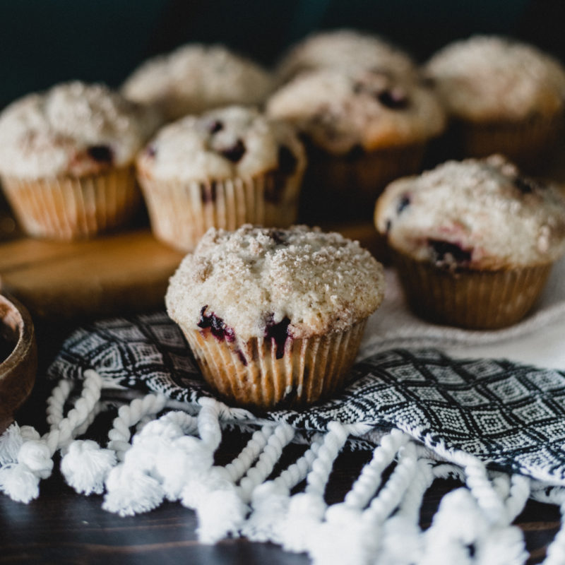 muffins with saskatoon berries
