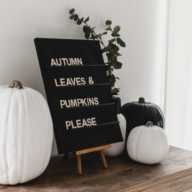 beautiful letter board idea