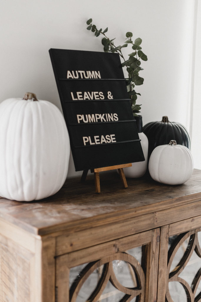 fall letterboard DIY