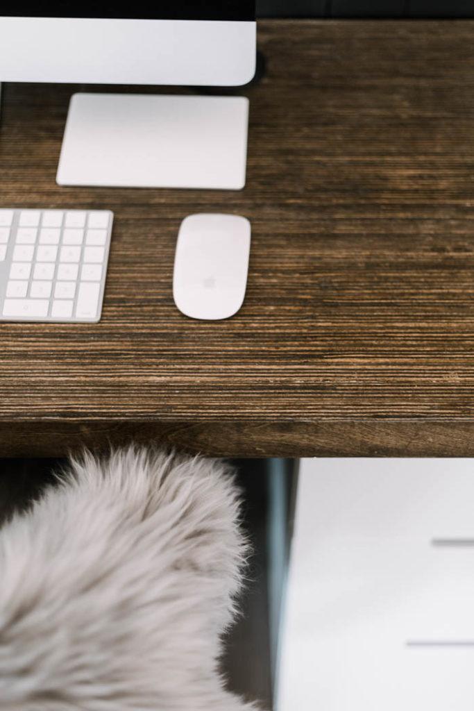 Unique modern wood desktop