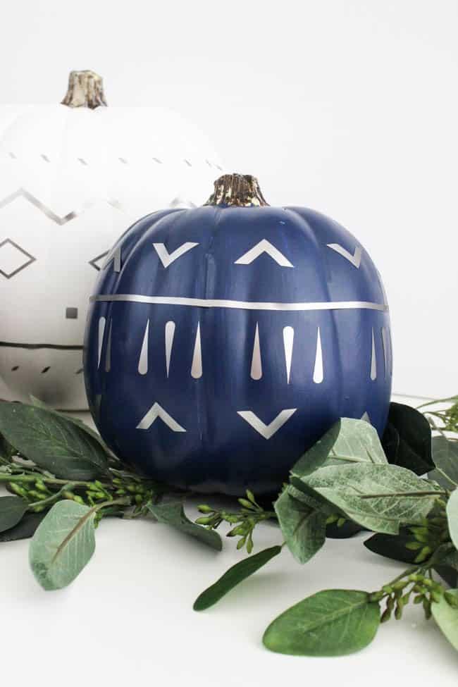 Modern Fall Decor: Patterned Pumpkins