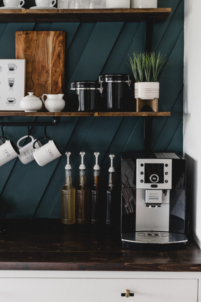 A Modern Diy Coffee Station For The Home Love Create Celebrate