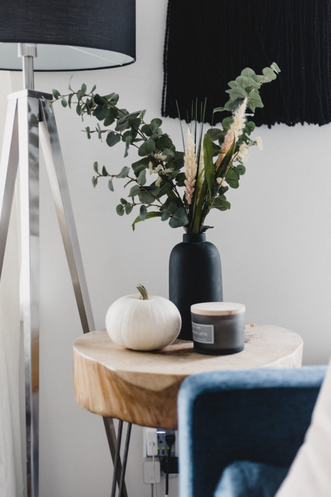 stylish fall side table styling