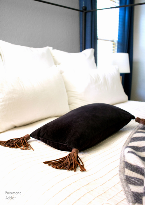 How to Make a Leather Tassel Pillow