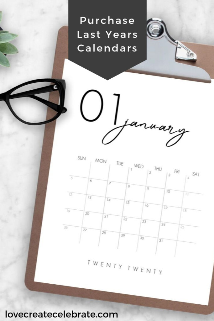 Free downloadable calendars