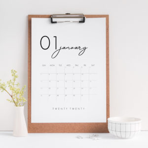 Beautiful Modern 2020 Calendar