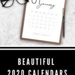 Photo of modern minimal calendars with test reading Beautiful 2020 Calendars