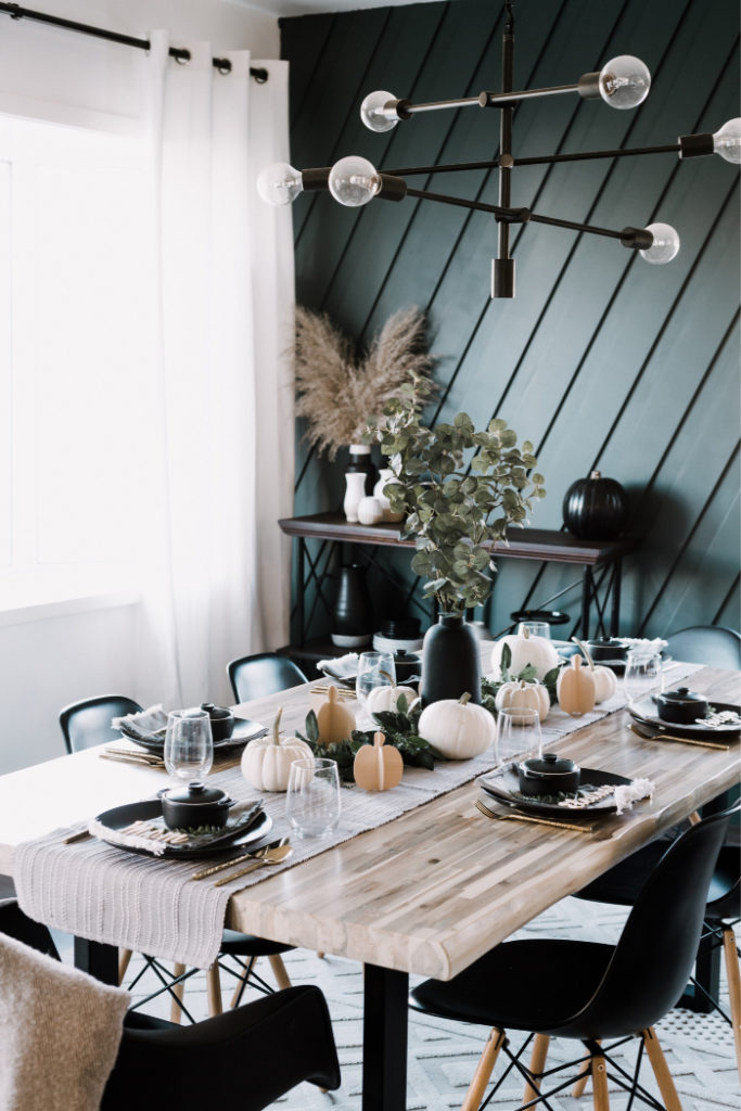 Beautiful Tablescape with wooden Cricut Maker projects