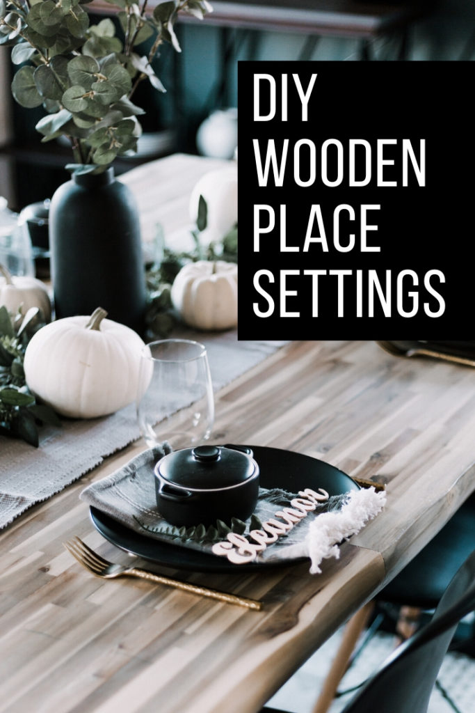 DIY Wooden Place Settings