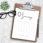 Modern 2020 Calendar