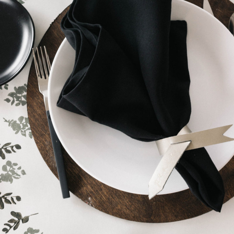 Modern Wood Chargers for Tablescape
