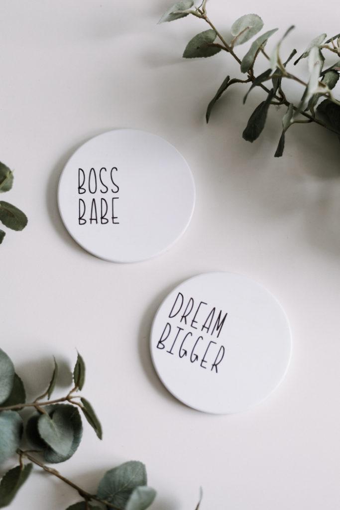 Modern Girl Boss Coasters