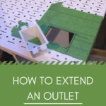 "outlet extender collage with text overlay reading ""how to extend an outlet"""