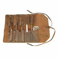 Rustic Leather Small Tool Roll