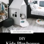 DIY Kids Playhouse in the bedroom