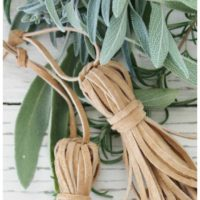 DIY Rustic Leather Tassel Ornaments