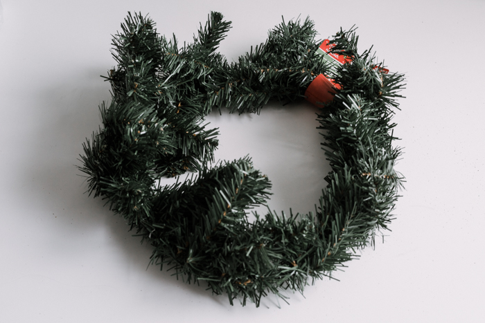 dollar store wreath DIY
