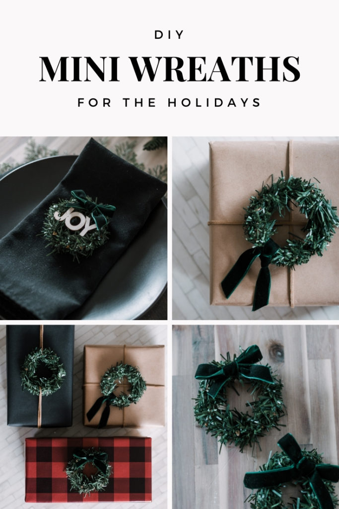 DIY mini wreaths for the holidays collage