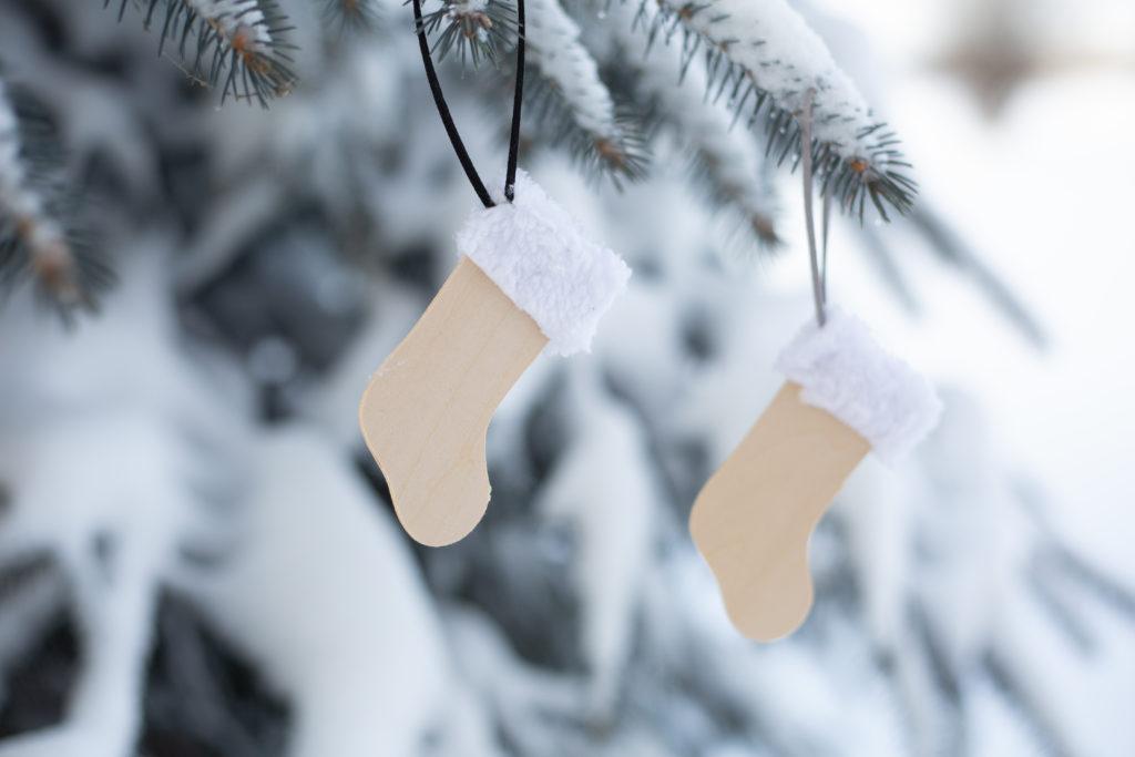 DIY stocking ornaments