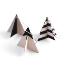 DIY Wood Tree Ornaments
