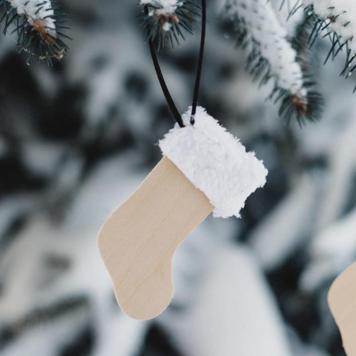 Hanging Mini stocking ornament