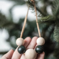 Easy Wooden Bead Christmas Ornament