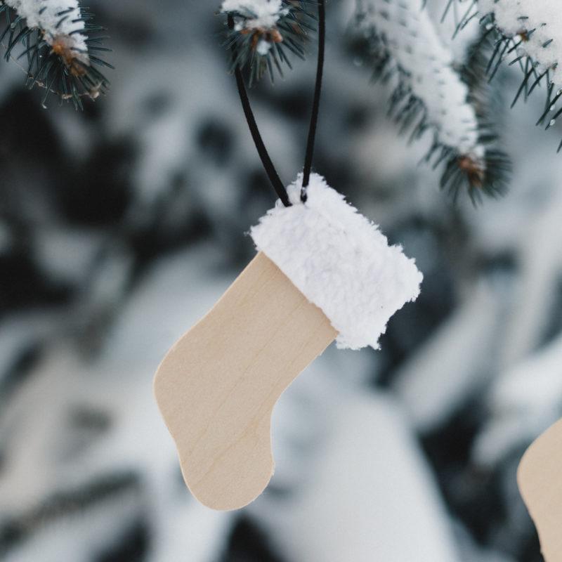 DIY stocking ornament