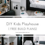 DIY Kids Playhouse with Free Build Plans Collage