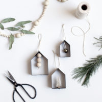 DIY House Cookie Cutter Ornaments - The Merrythought