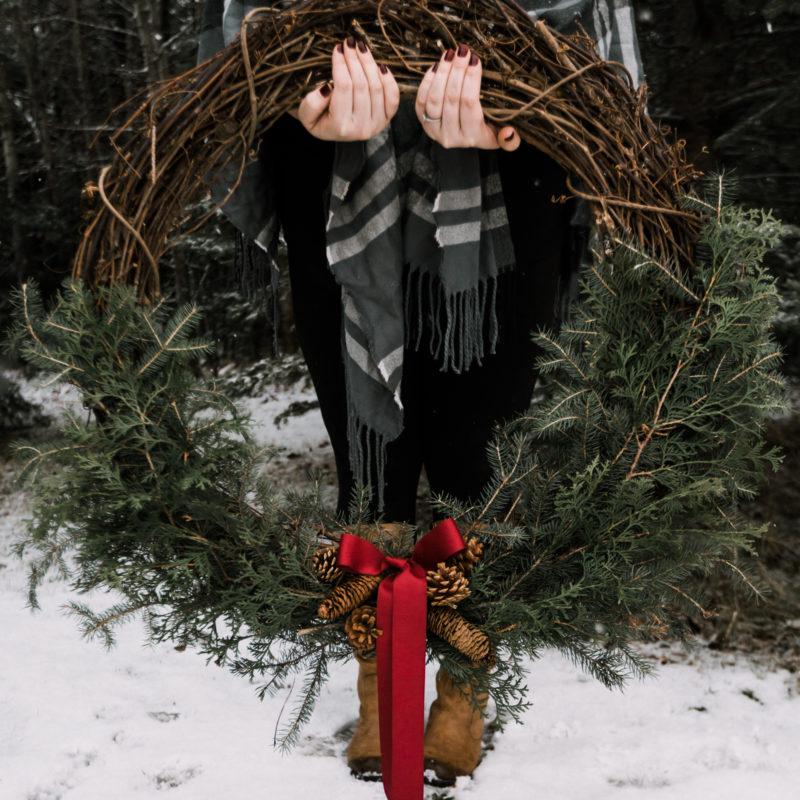 Giant pine wreath