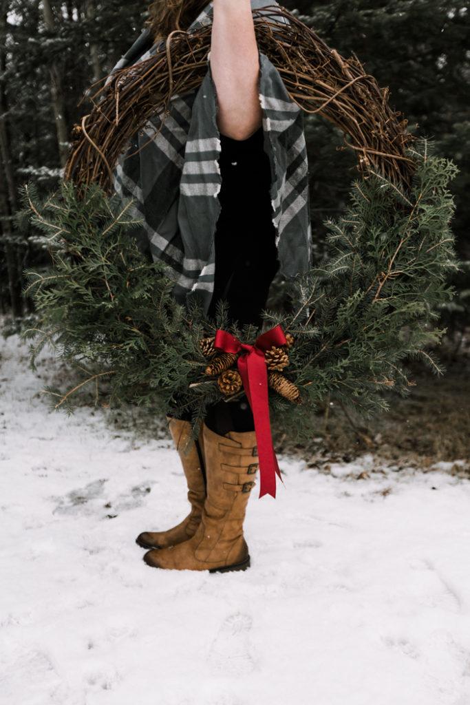 Large diy pine wreath