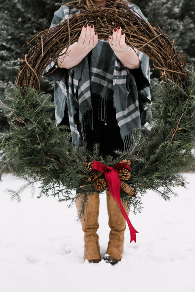 Giant DIY Pine Wreath