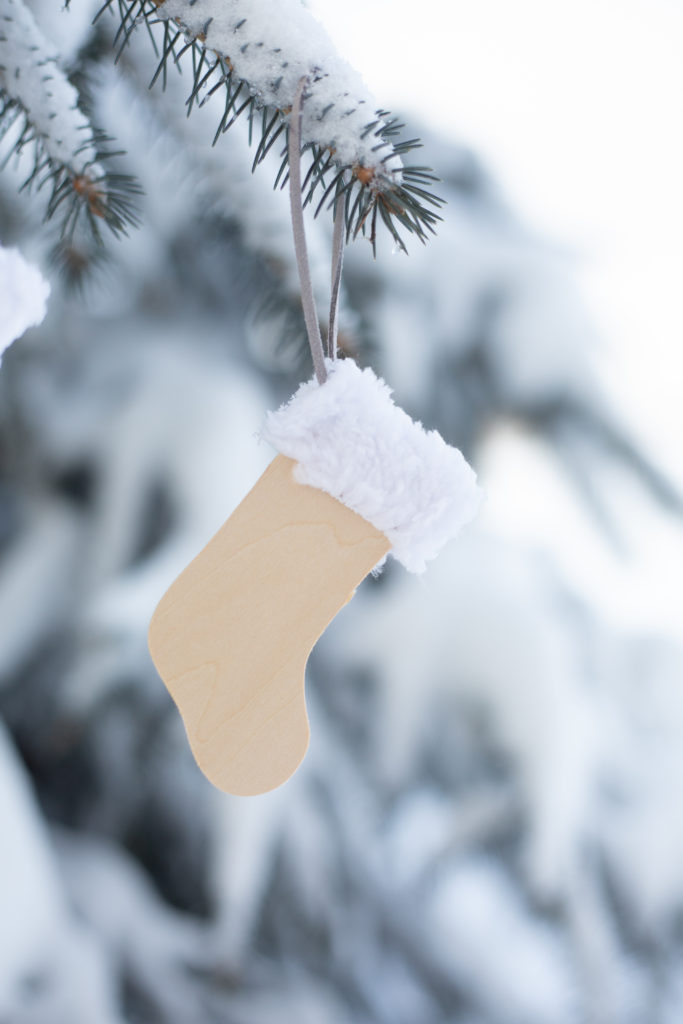 Making a simple stocking ornament