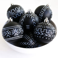 Mud Cloth Inspired Ornaments