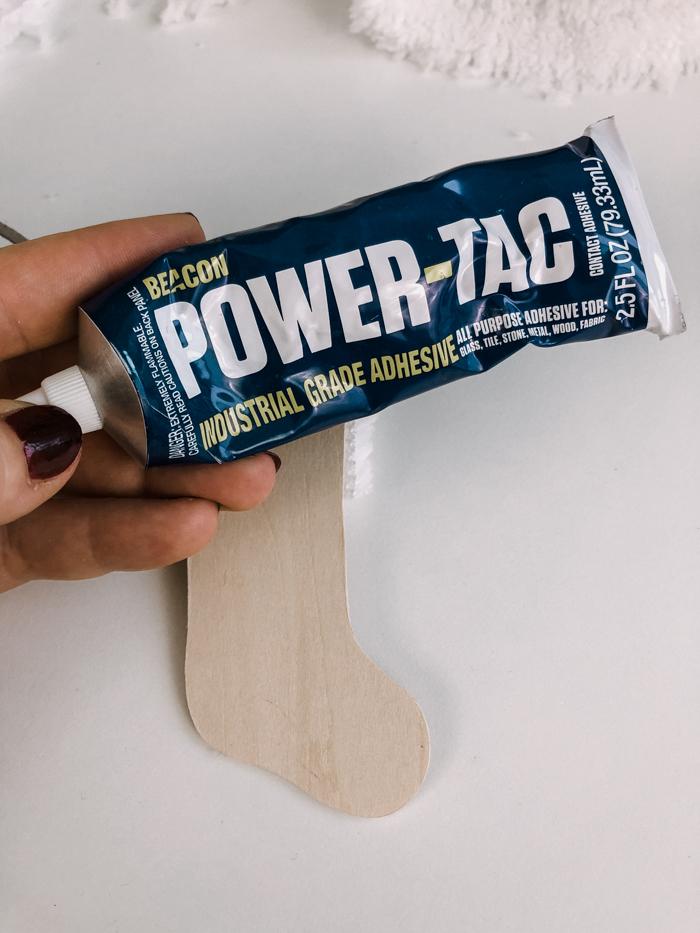 power tac glue for ornament DIY