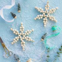 DIY Wood Bead Snowflake Ornament